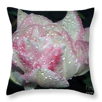 Nice Tulip Throw Pillow by Elvira Ladocki