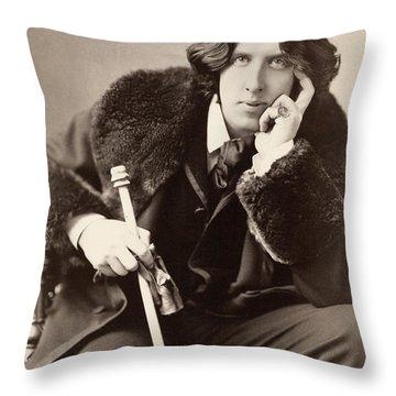 Oscar Wilde (1854-1900) Throw Pillow by Granger