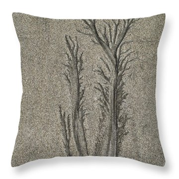Sand Reels Throw Pillow