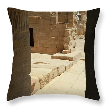 Throw Pillow featuring the photograph temple of Isis by Silvia Bruno