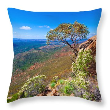 Throw Pillow featuring the photograph Wilpena Pound  by Bill  Robinson