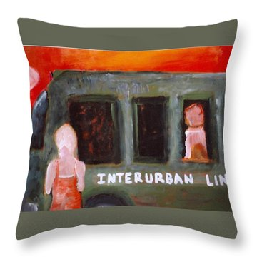 Throw Pillow featuring the painting 90 Degrees And Rising by Michael Dohnalek