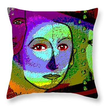 905 - A Certain Glare In The Eyes - 2017  Throw Pillow by Irmgard Schoendorf Welch