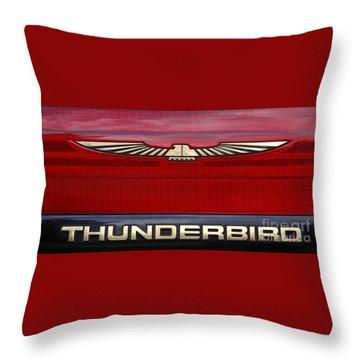 90s Thunderbird Throw Pillow