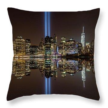 911 Reflection Throw Pillow