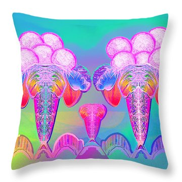 917 - Icecream Summerfruit A  Throw Pillow