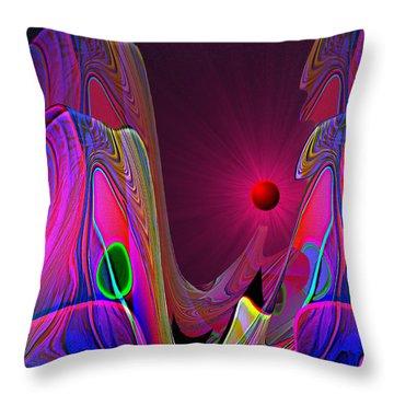 918 Evening Glow A Throw Pillow