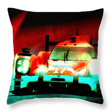 919 Lemans Throw Pillow