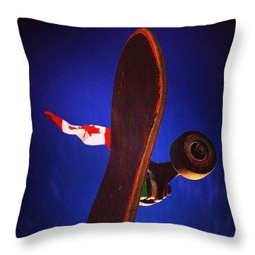 Canadian Skater Throw Pillow