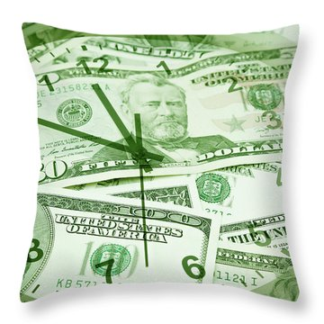 Throw Pillow featuring the photograph Time Is Money  by Les Cunliffe