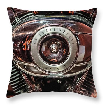 Throw Pillow featuring the photograph 96 Cubic Inches Softail by Randy Scherkenbach