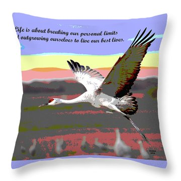 Motivational Quotes Throw Pillow