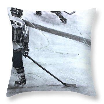 #98 Brown Throw Pillow