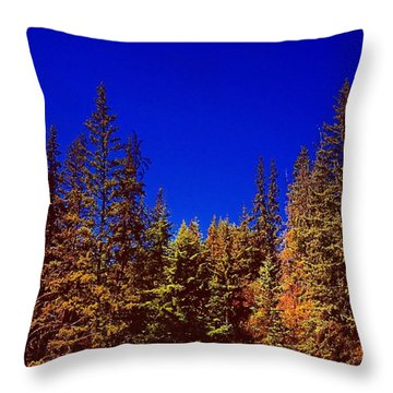 Beyond The Big Green Forest Throw Pillow