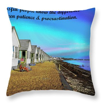 Motivational Quotes Throw Pillow by Charles Shoup