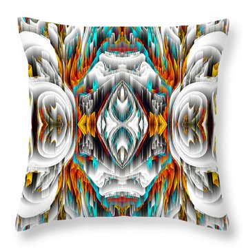 Throw Pillow featuring the digital art 992.042212mirror2ornategold-1-a by Kris Haas