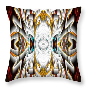 Throw Pillow featuring the digital art 992.042212mirror2ornateredagold-1a-1 by Kris Haas