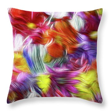 9a Abstract Expressionism Digital Painting Throw Pillow