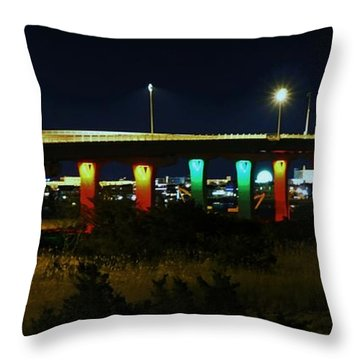 9th Street Bridge Throw Pillow