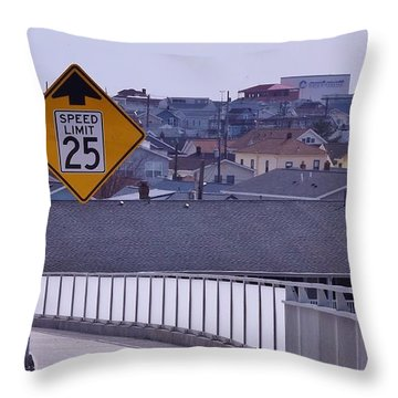 9th Street In Throw Pillow