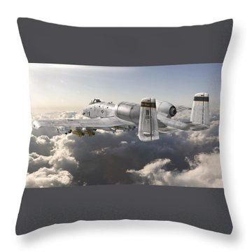 A-10 Thunderbolt II Throw Pillow by David Collins