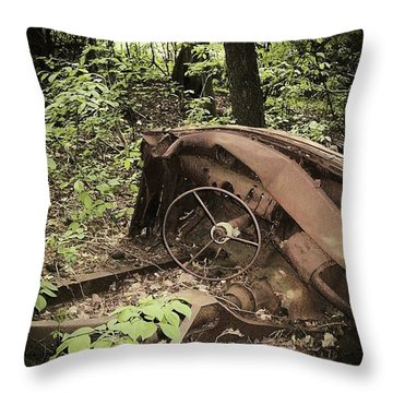 Abandoned 50s Classic.... Throw Pillow