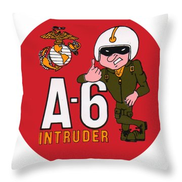 A-6 Intruder Throw Pillow