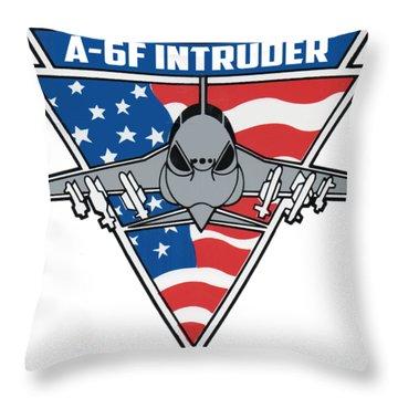 A-6f Intruder Throw Pillow