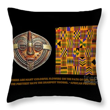 A  African Proverb Throw Pillow