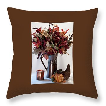 A Autumn Day Throw Pillow by Sherry Hallemeier