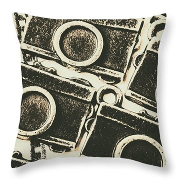 A Background In Photography Throw Pillow