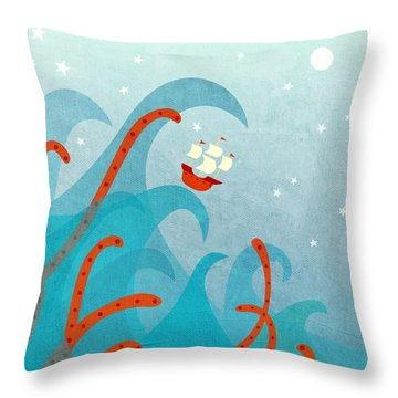 A Bad Day For Sailors Throw Pillow