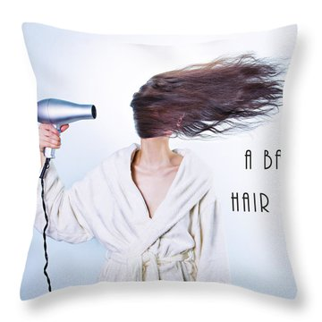 A Bad Hair Day Throw Pillow