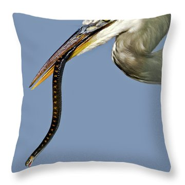 A Bad Snake Day Throw Pillow