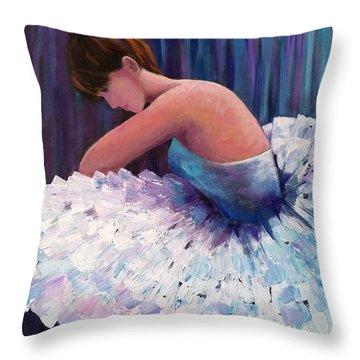 A Ballerina In Repose Throw Pillow