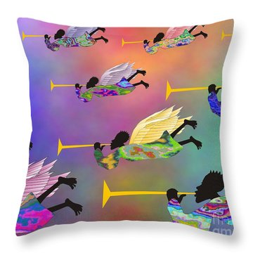A Band Of Angels Throw Pillow