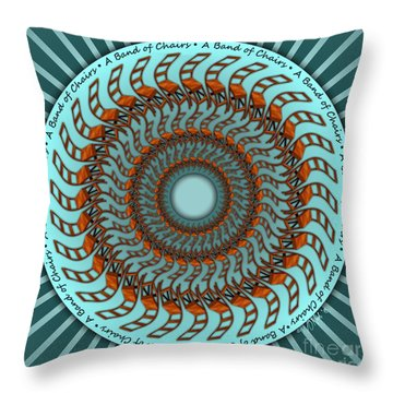 A Band Of Chairs Throw Pillow