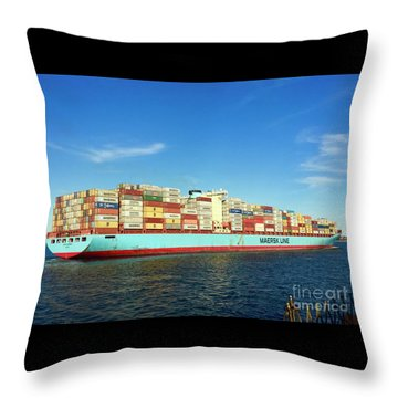 A Barge Can Be Beautiful Throw Pillow