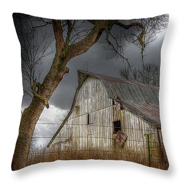 A Barn In The Storm 2 Throw Pillow