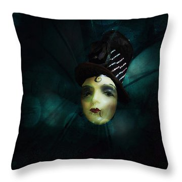 Throw Pillow featuring the digital art A Basement Apartment by Delight Worthyn