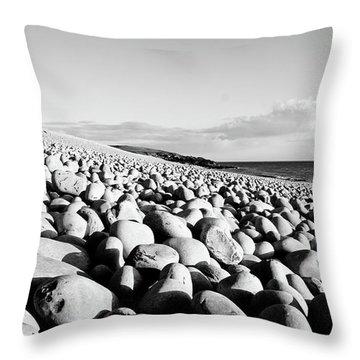 A Beach Of Stones Throw Pillow