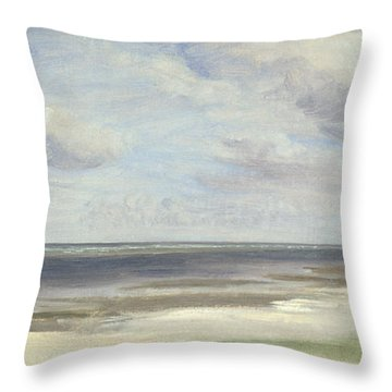 A Beach On The Baltic Sea At Laboe Throw Pillow