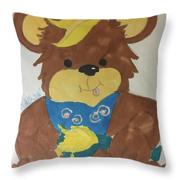 A Bear Loves Honey Throw Pillow