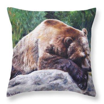 A Bear Of A Prayer Throw Pillow