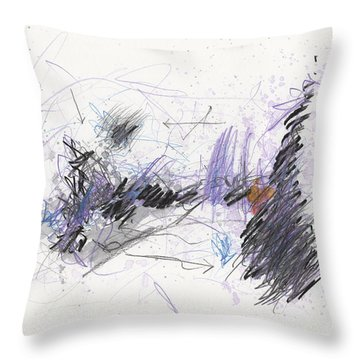 Throw Pillow featuring the painting A Beast Of A Night by Rick Baldwin