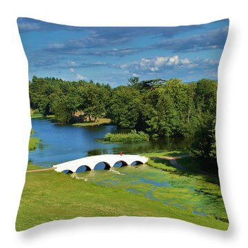 A Beautiful British Landscape Throw Pillow