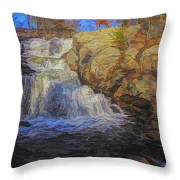 A Beautiful Connecticut Waterfall. Throw Pillow