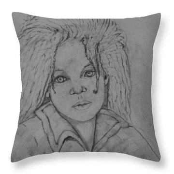 Wistful, The Drawing. Throw Pillow