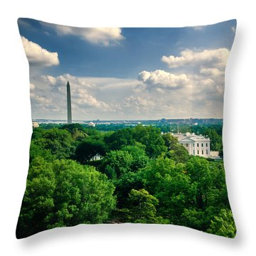 A Beautiful Day In Dc Throw Pillow