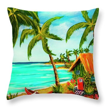 A Beautiful Day  Oahu #357 Throw Pillow by Donald k Hall